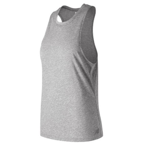 New Balance 91131 Women's Relentless Tank - Grey (WT91131AG)
