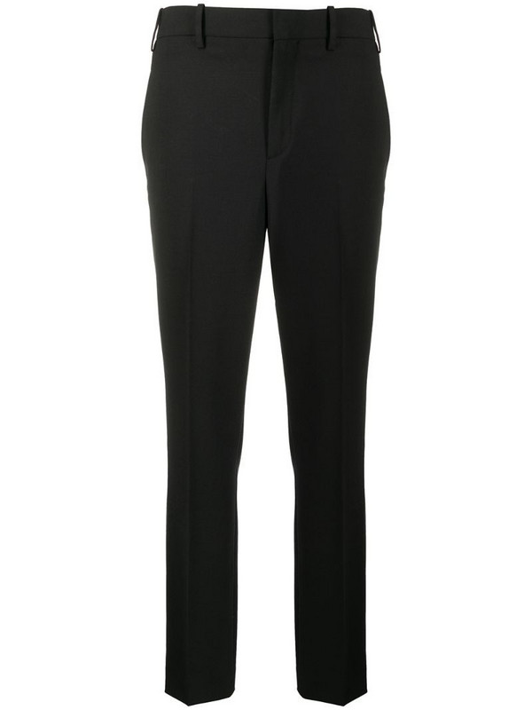 Neil Barrett pleated detailed chinos in black