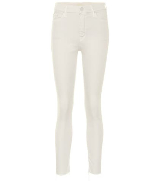 Mother Looker high-rise skinny jeans in white