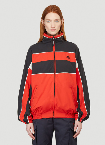 Vetements Paneled Tracksuit Jacket in Red size S