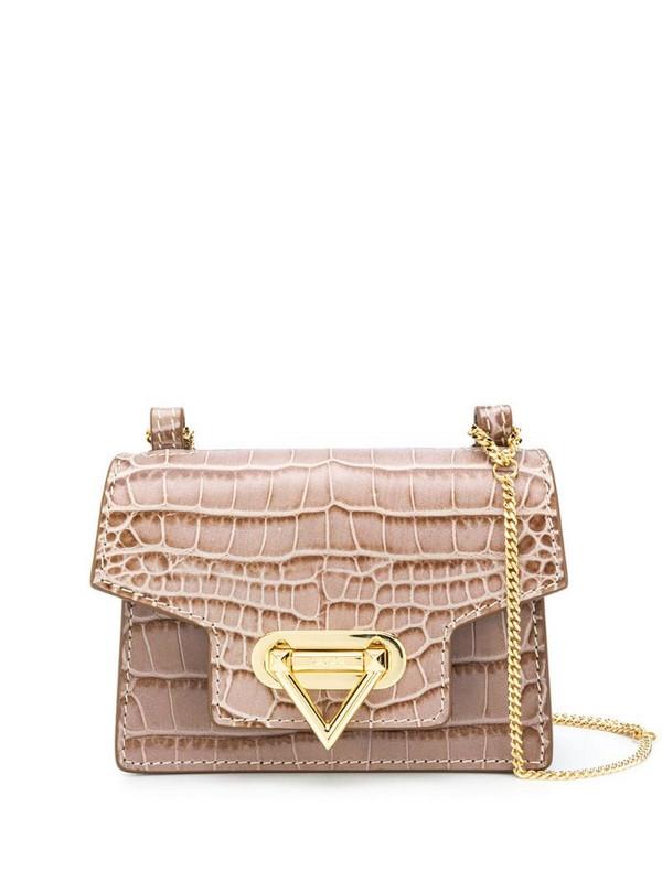 Salar Bebe crocodile-effect crossbody bag in brown