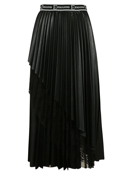 Ermanno Scervino Pleated Skirt in black
