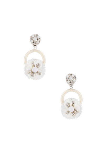 Ranjana Khan Crystal Flower Earring in white