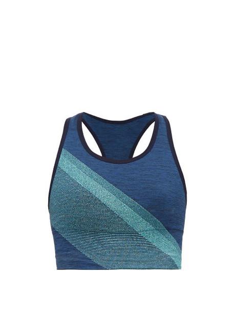Lndr - Comet Jersey Sports Bra - Womens - Blue