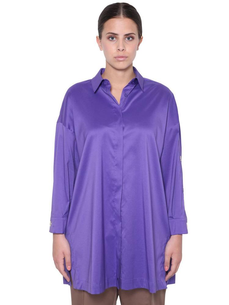 MARINA RINALDI Poplin Shirt in purple