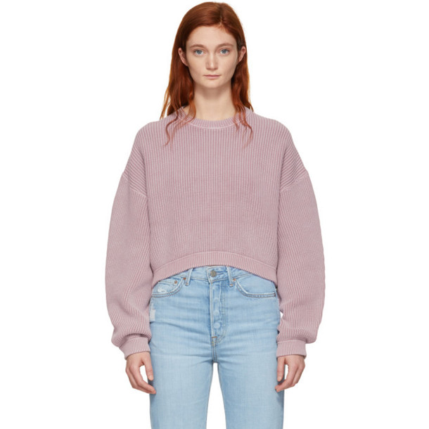alexanderwang.t Pink Cropped Utility Sweater
