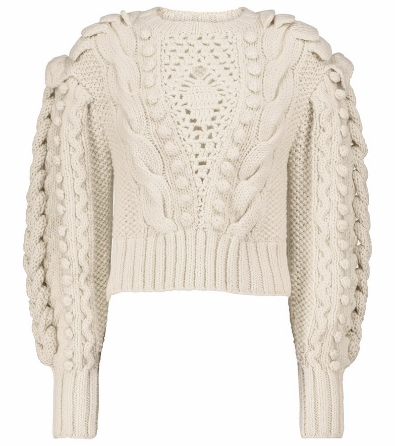 Ulla Johnson Verena cable-knit wool sweater in white