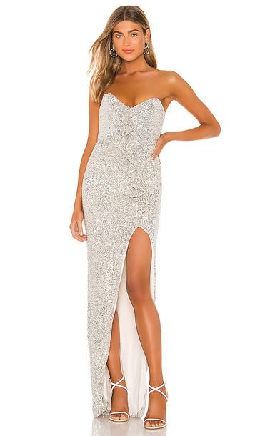 Nookie Galaxy Gown in Metallic Silver