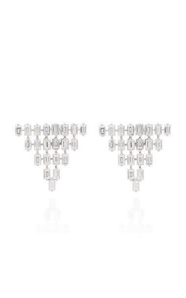 AS29 18K White Gold Diamond Earrings