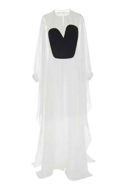 Bouguessa Two Tone Organza Gown Size: L in multi