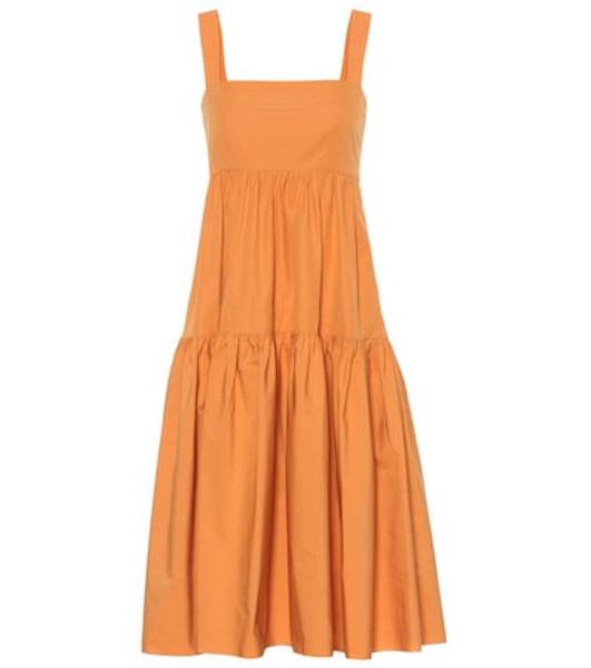 Three Graces London Exclusive to Mytheresa – Cosette cotton midi dress in orange