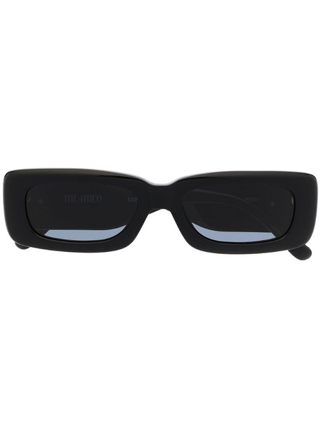 Linda Farrow x The Attico rectangular frame sunglasses in black