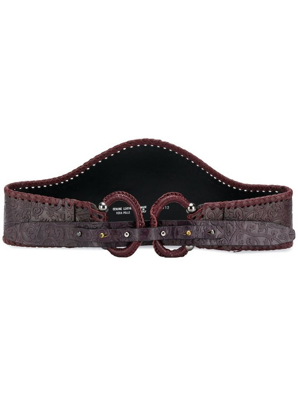 Gianfranco Ferré Pre-Owned 1990s double-loop western belt in purple