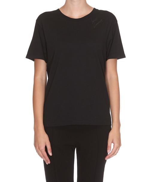 Saint Laurent Saint Laurent Embroidered T-shirt in black