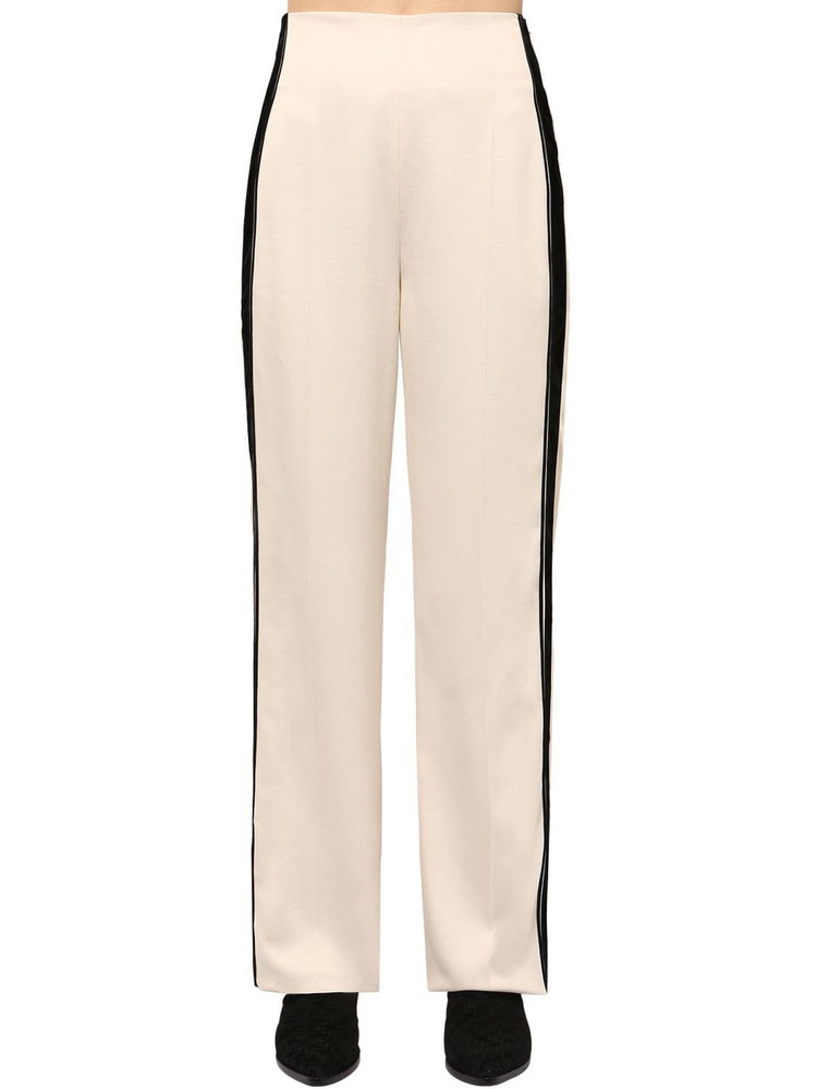 HAIDER ACKERMANN Viscose Pants W/ Side Bands in white