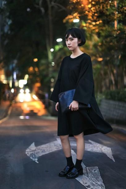 dress black oversized black dress t-shirt t-shirt dress oversized t-shirt