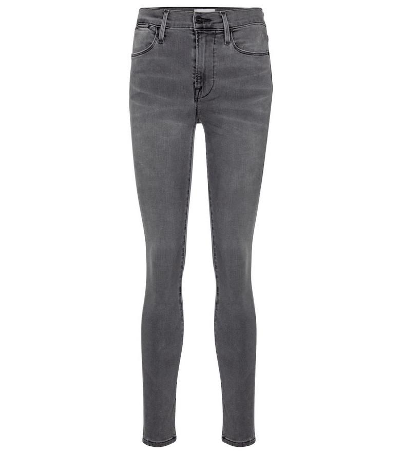 Frame Le High Skinny jeans in black