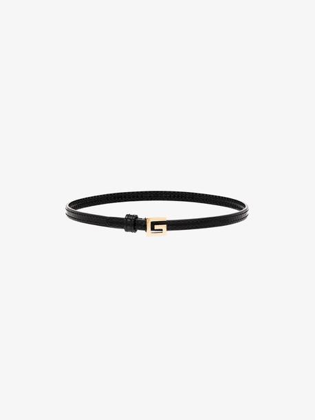 Gucci black gold tone logo choker