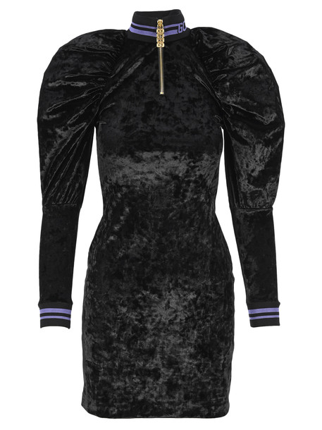 Gcds Puffed Shoulders Mini Dress in black