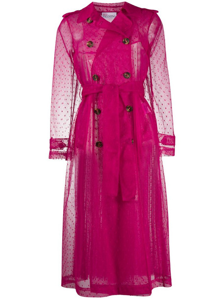 RedValentino sheer trench coat in pink