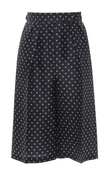 Max Mara Melinda Polka-Dot Silk Crepe De Chine Shorts Size: 0 in black