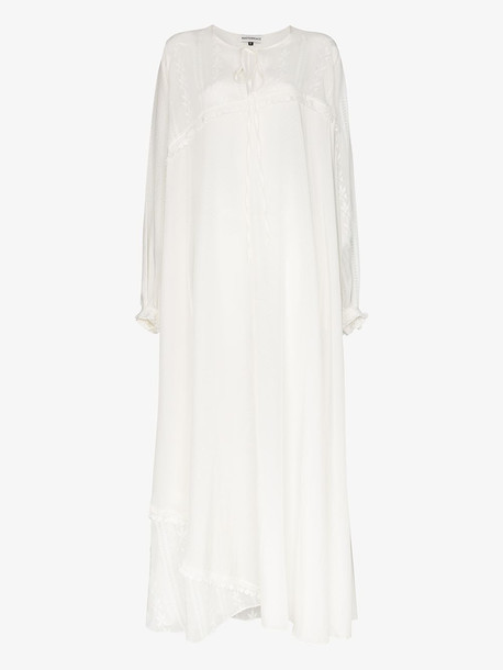 Masterpeace Embroidered maxi dress in white