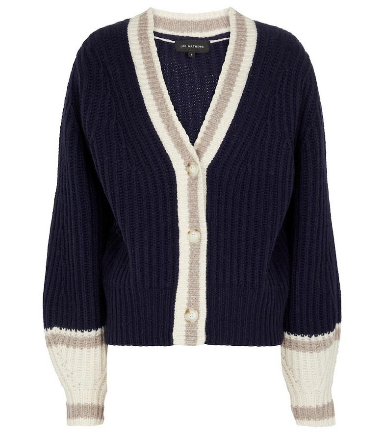 Lee Mathews Wool-blend cardigan in blue
