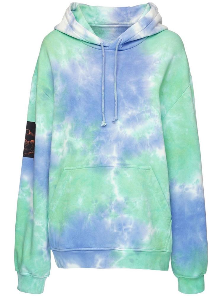 MCQ Genesis Ii Tie Dye Sweatshirt Hoodie in blue / green