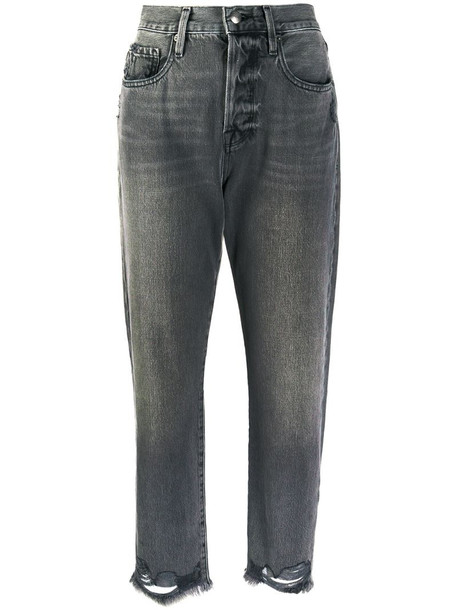 FRAME cropped jeans in grey