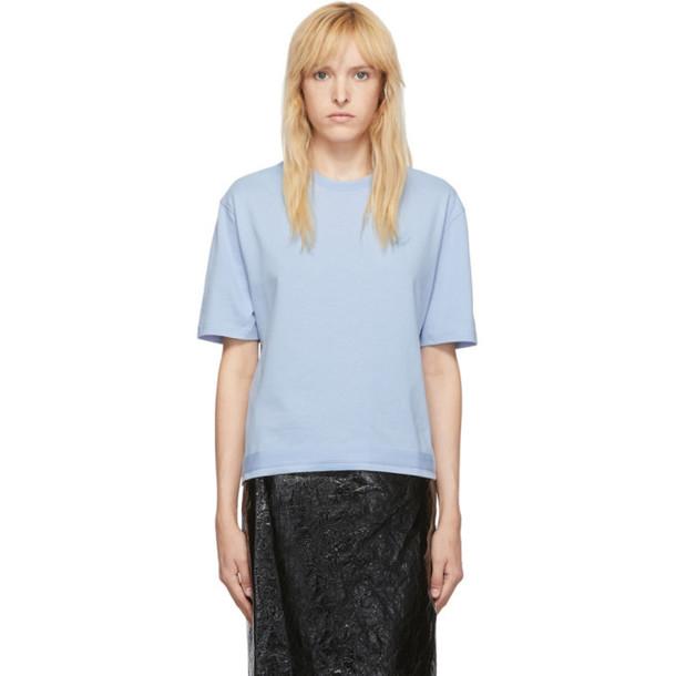 McQ Alexander McQueen Blue Taped Swallow Boyfriend T-Shirt