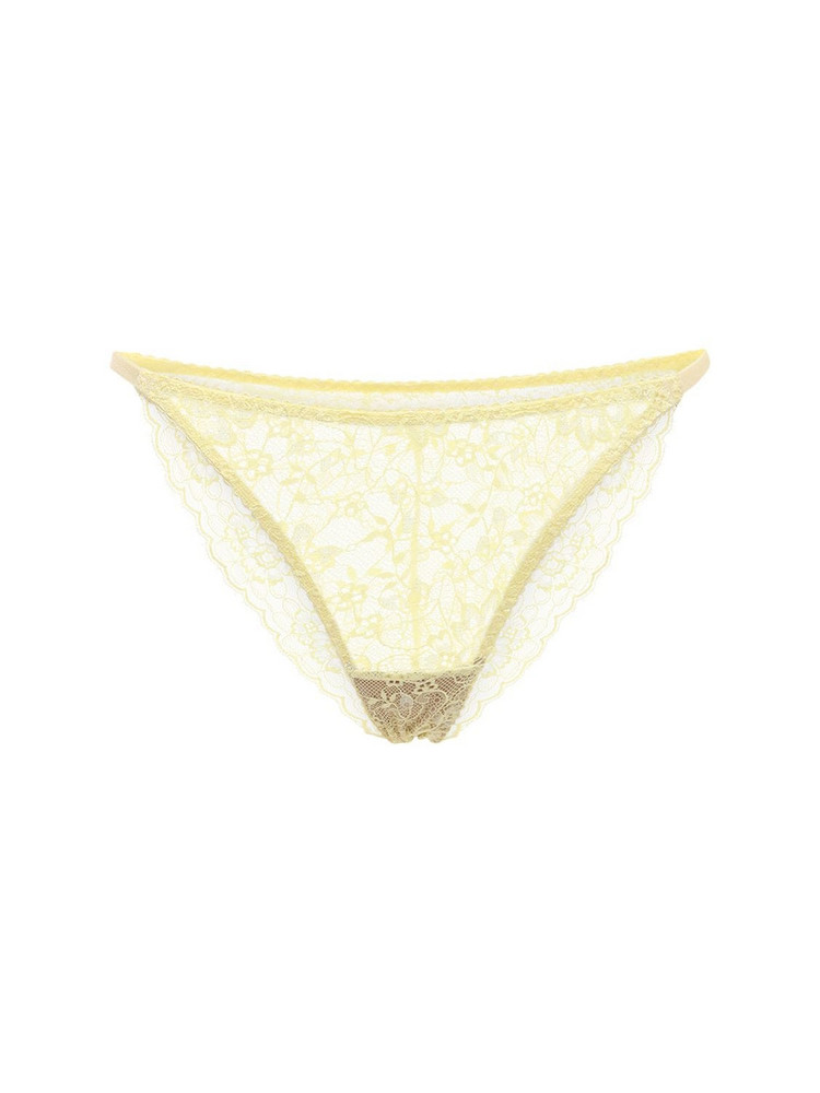 UNDERPROTECTION Amy Lace Briefs in yellow