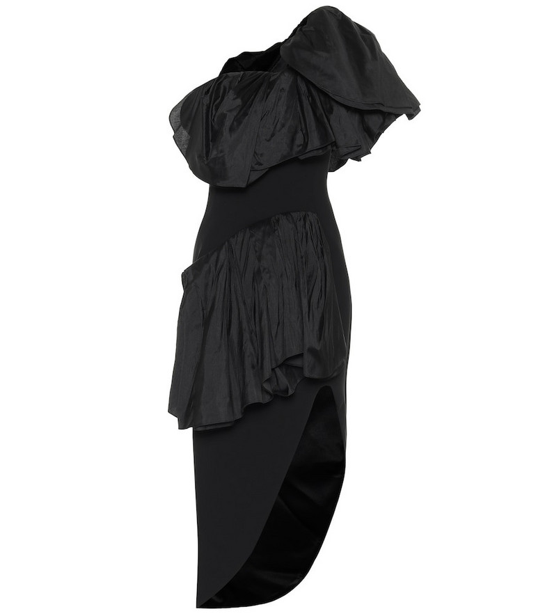 Maticevski Attentive Ruffle crêpe midi dress in black