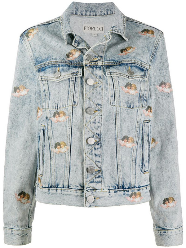 Fiorucci Mini Angels Nico denim jacket in blue