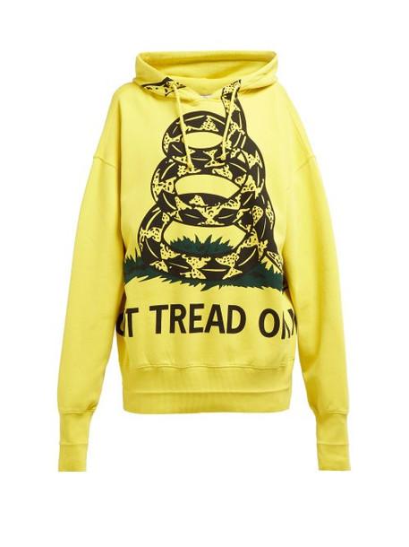 Vetements - Snake Print Cotton Sweatshirt - Womens - Yellow