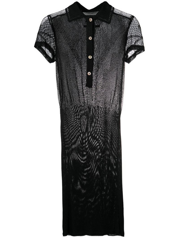 Jean Paul Gaultier Pre-Owned 1990s semi-sheer fitted dress in black