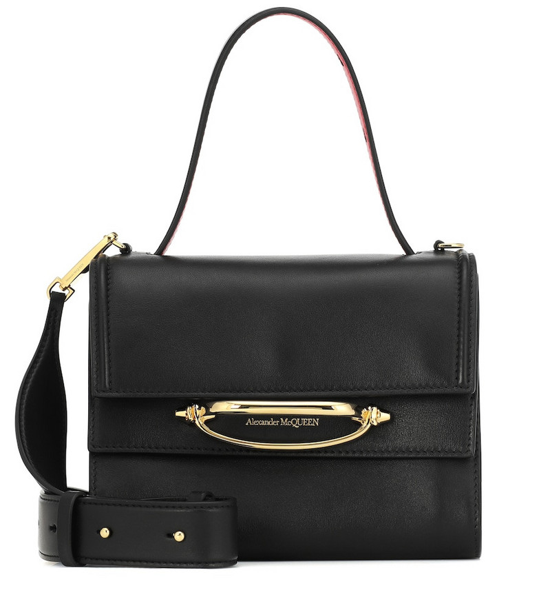 Alexander McQueen The Story leather shoulder bag in black