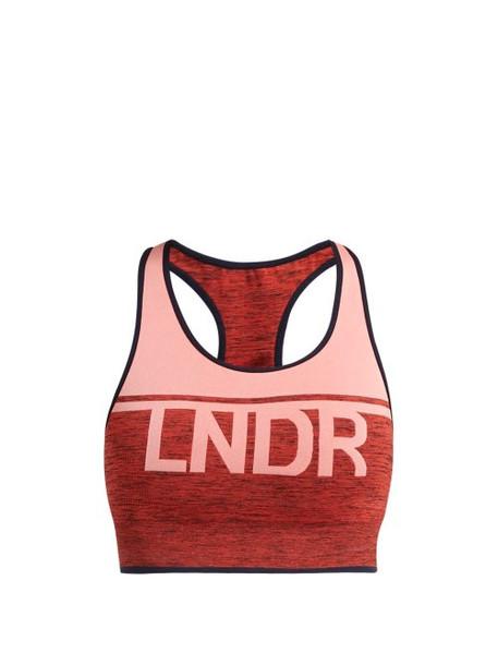 Lndr - A Team Logo Jacquard Performance Bra - Womens - Pink