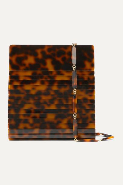 Cult Gaia - Dixie Tortoiseshell Acrylic And Leather Shoulder Bag
