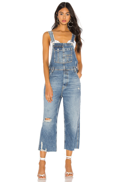 Free People Baggy Boyfriend Overall in blue