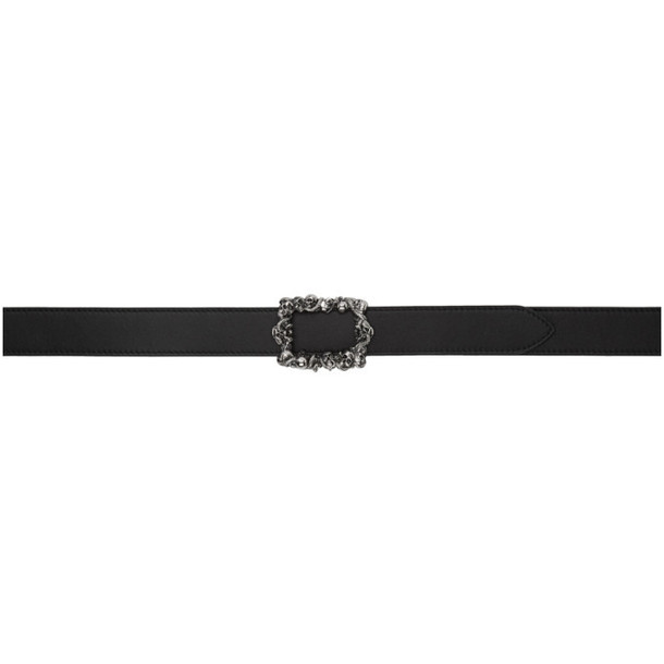 Alexander McQueen Reversible Black & Brown 3D Skull Belt