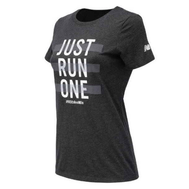 New Balance 73660 Women's 5th Avenue Mile Graphic Tee - Black (WT73660VBK)