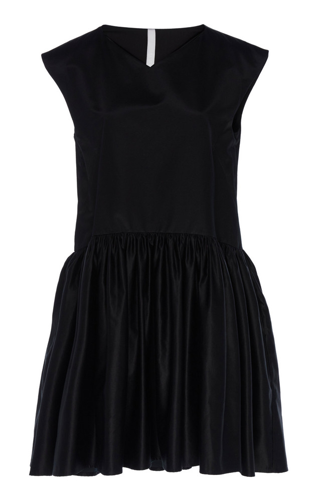 Merlette Estreta Peplum Mini Dress in black