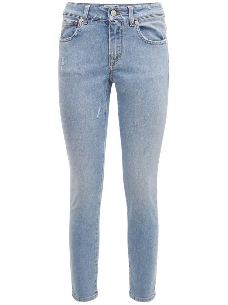 GIVENCHY Cotton Denim Slim Fit Crop Jeans