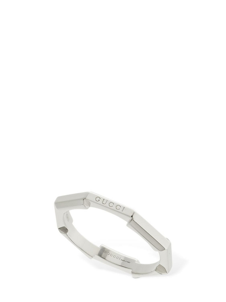 GUCCI 18kt White Gold Link To Love Ring