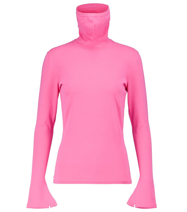 Balenciaga Mask turtleneck sweater in pink