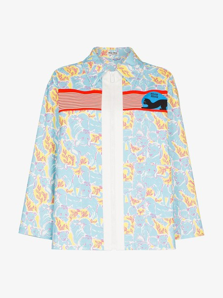 Miu Miu printed jacket in blue