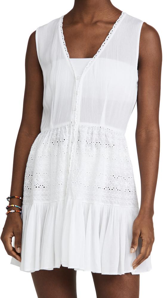 Playa Lucila Eyelet Mini Dress in white