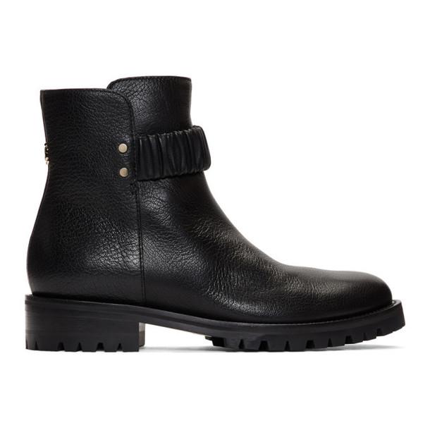 Jimmy Choo Black Flat Holst Ankle Boots