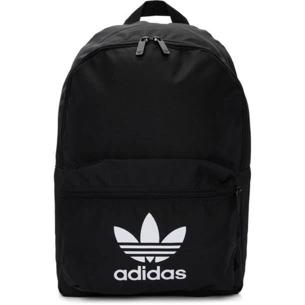 adidas Originals Black Adicolor Classic Trefoil Backpack