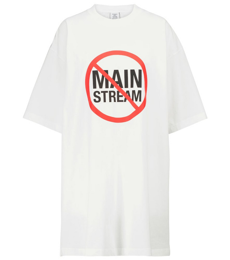 Vetements Cotton T-shirt in white